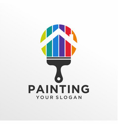 house painting logo design template vector image