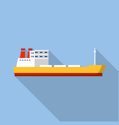 industrial ship icon flat style vector image