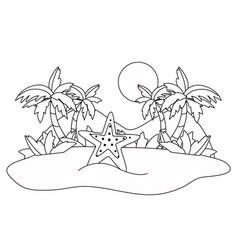 isolated ocean sea star design vector image