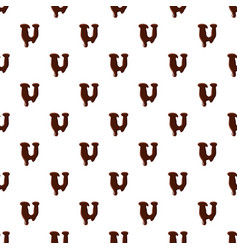 letter u from latin alphabet made of chocolate vector image