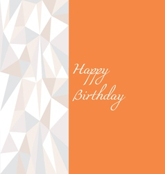 Low poly birthday card in orange vector