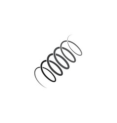 Metal spring coil logo icon symbol element vector