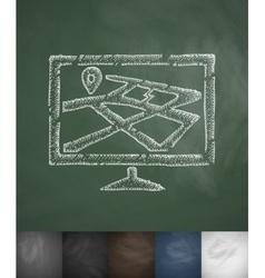 Navigation icon Hand drawn vector