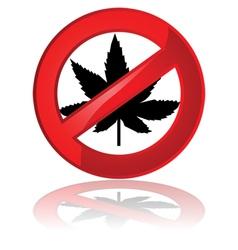 No cannabis vector