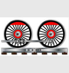 Pair of train wheels vector