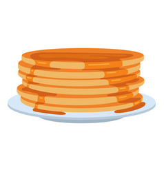 pancakes with syrup homemade tasty traditional vector image