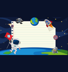 Paper template with space in background vector