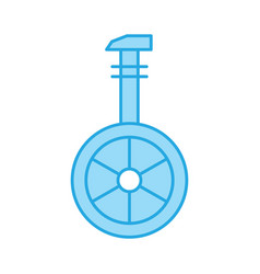 Perfect blue tone icon or pictogram on white vector