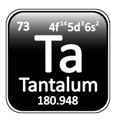 Periodic table element tantalum icon vector