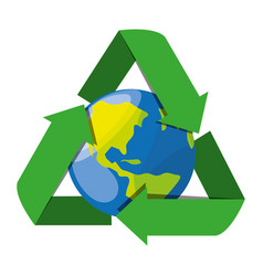 Recycling symbol for the planet conservation vector