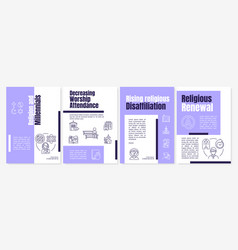Religion and millennials brochure template vector