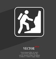 rock climbing symbol Flat modern web design with vector image vector image