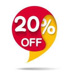 sale promo marketing 20 vector image