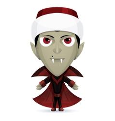 Santa Dracula vector