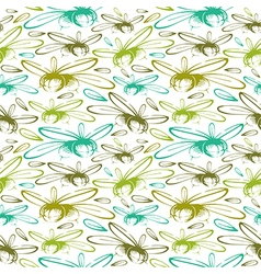 Seamless pattern with the image of olives color vector image
