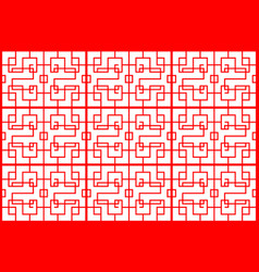 Seamless red chinese patter backdrop on white vector