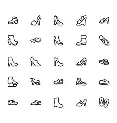 Shoes Line Icons 4 vector image