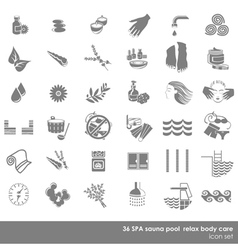 Spa and sauna beauty set vector