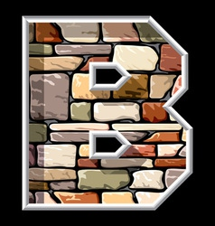 stone letter B vector image