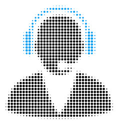 support operator halftone icon vector image