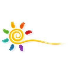 Symbol of color sun vector