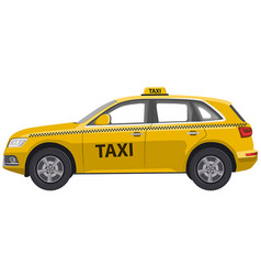 taxi car jeep hatchback vector image