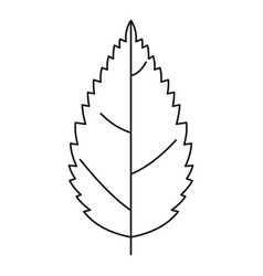 Tree leaf icon outline style vector