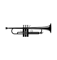 Trumpet icon black simple style vector