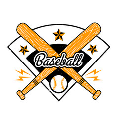 Vintage emblem for baseball vector