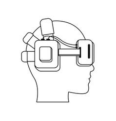 Virtual reality icon image vector