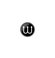 w-logo vector image