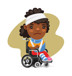 wheelchair user african american woman vector image