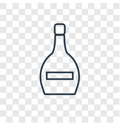 wine bottle concept linear icon isolated on vector image