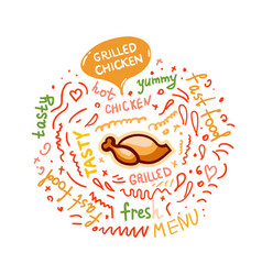 with grilled chicken vector image