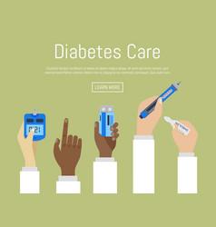 World diabetes day awareness with doctors hands vector