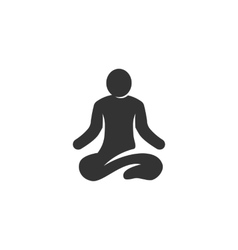 Yoga icon isolated on a white background vector image