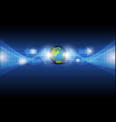 digital arrow with global vector image vector image