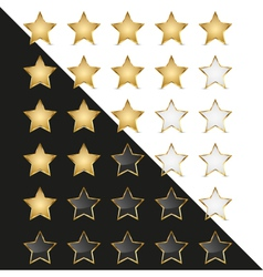 Elegant Golden Rating Stars vector image
