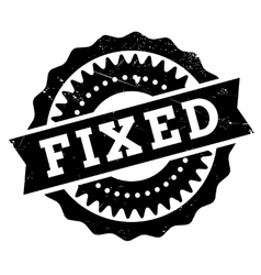 Fixed stamp rubber grunge vector image