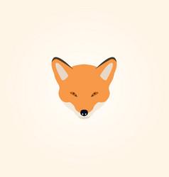 head of a fox vector image