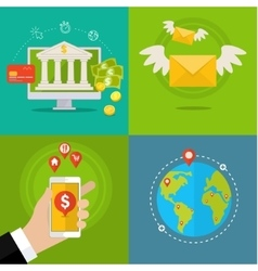 Internet banking concept vector image vector image