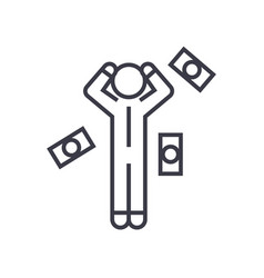 money question man linear icon sign symbol vector image