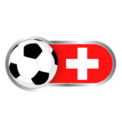 switzerland soccer icon vector image vector image