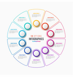 10 parts infographic design circle chart vector