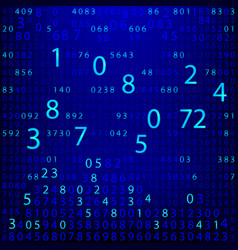 Blue binary computer code repeating vector
