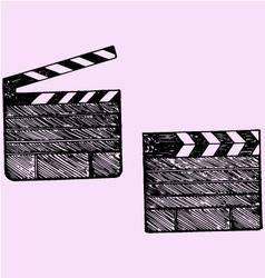 clapper board cinema vector image