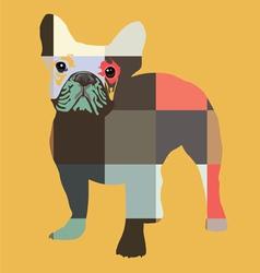 color bulldog print vector image