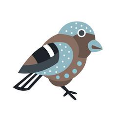 cute small bird colorful cartoon character vector image