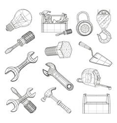 Drawing tools set vector image vector image