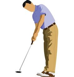 golfer vector image vector image